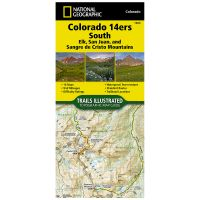 Trails Illustrated Map: Colorado Trail East: Colorado 14Ers South: San Juan, Ealk, And Sangre De Cristo Mountains