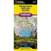 Adventure Travel Map: California And Nevada