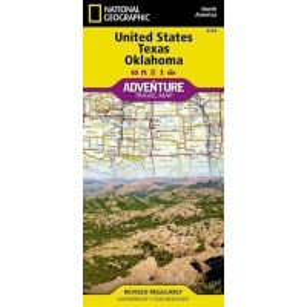 Adventure Travel Map: Texas And Oklahoma