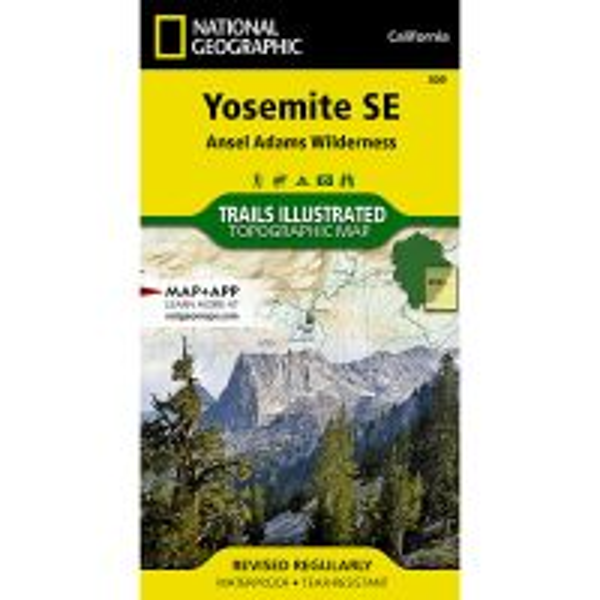Trails Illustrated Map: Yosemite SE - Ansel Adams Wilderness