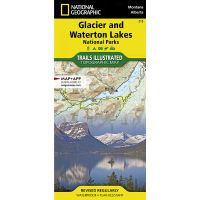 Trails Illustrated Map: Glacier and Waterton Lakes National Parks - 2019 Edition