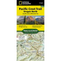 Trails Illustrated Map: Pacific Crest Trail: Oregon North: Cascade Locks To Willamette Pass