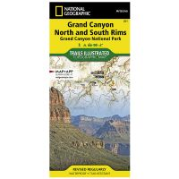 Trails Illustrated Map: Grand Canyon - North and South Rims
