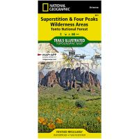 Trails Illustrated Map: Superstition & Four Peaks Wilderness Areas - Tonto National Forest