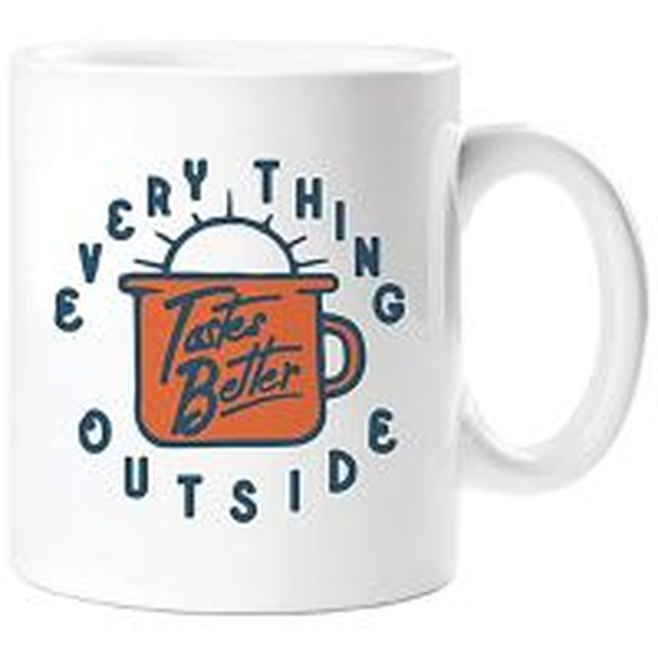 Everything Tastes Better Outside Mug