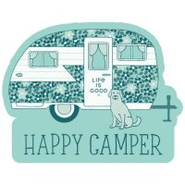 Die Cut Sticker Happy Camper