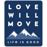 Small Die Cut Decal Love Will Move Mountains