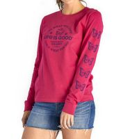 Positive Lifestyle Butterfly Long Sleeve Crusher