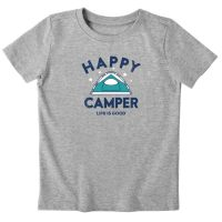 Happy Camper Tent Toddler Crusher Tee